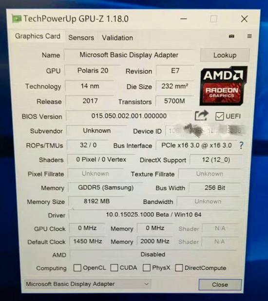 AMD RX 590/580/570/560